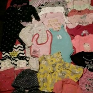 25 Piece Lot Baby Girl Clothing sz 0-3 mo
